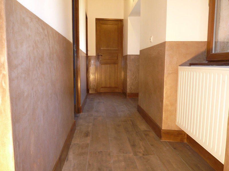 Couloir, platre et peinture